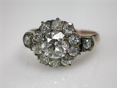 Antique Cluster Ring