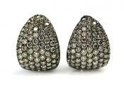 Diamond Earrings, Brown
