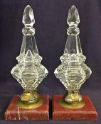 19th Century Cut Glass Objet D'art Paperweights