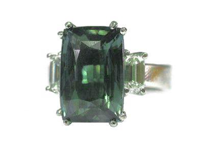 Vintage Alexandrite and Diamond Ring