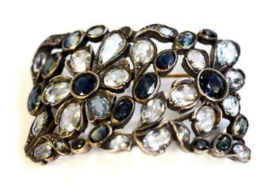 Antique Sapphire and Aquamarine Brooch