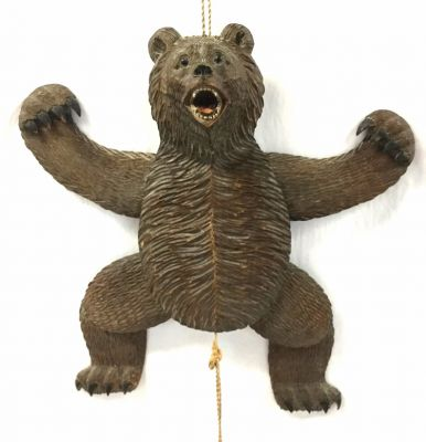 Antique Black Forest Hand Carved Dancing Bear, Circa 1880-1900