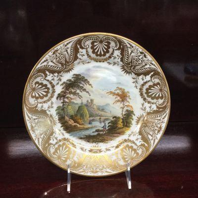 Antique Derby Cabinet Plate