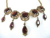 Antique Garnet Fringe Necklace