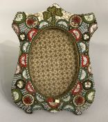 Antique Micro Mosaic Picture Frame, Made In Italy