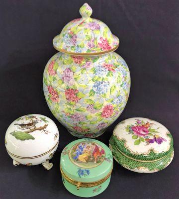 Antique Porcelain Boxes and Jars