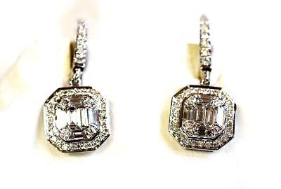 Art Deco Inspired Diamond Drop Earrings