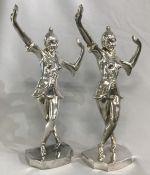 Art Deco Figural Balinese Dancers Bookends