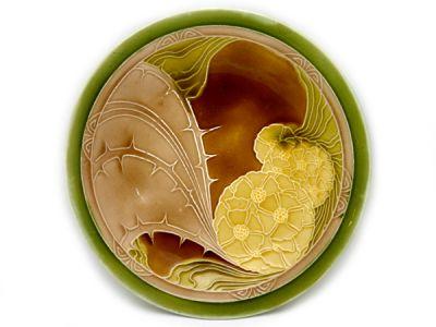 Art Nouveau-style Majolica Plate