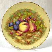 Aynsley Bone China Orchard Gold Pattern Cabinet Plate, Pattern #7956