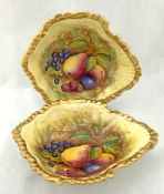 Aynsley Bone China Orchard Gold Pattern Shell Shaped Dishes
