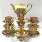 Aynsley Orchard Gold Coffee Set, Pattern # C746