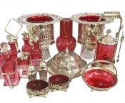 Lovely Antique & Vintage Cranberry Glass