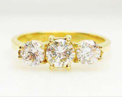 Black Star & Frost Vintage 3 Diamond Ring
