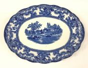 """Blue and White Platter in the """"Togo"""" Pattern"""