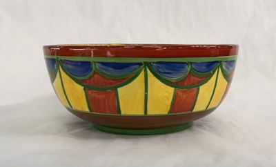 Clarice Cliff Hand Painted Bizarre Ware Fruit Bowl