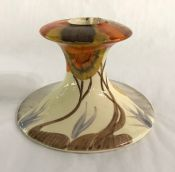 Clarice Cliff Hand Painted Bizarre Ware Single Candlestick