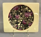 Clarice Cliff Plate With The Biarritz Royal Staffordshire Trademark