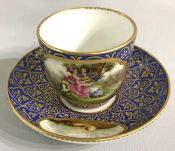 Continental Porcelain Cup & Saucer