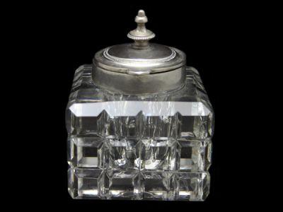 Cut Crystal Inkwell
