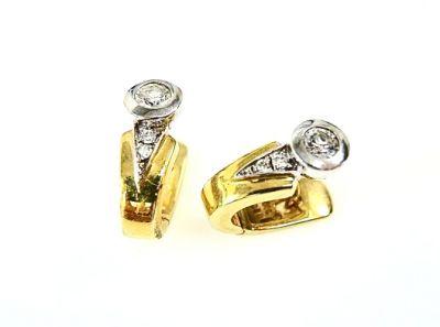 Vintage Diamond Huggie Earrings