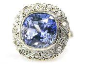 Edwardian Sapphire and Diamond Ring