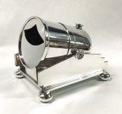 Edwardian Era Silver Plate Cannon Shape Spoon Warmer