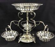 Edwardian Era Silver Plate Epergne
