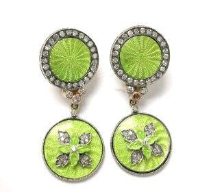 Russian Enamel Earrings