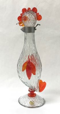 Figural Murano Glass Rooster Claret Decanter