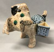 French Art Deco Earthenware Dog by Louis Auguste Dage (1885-1963)