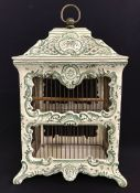 French Faience Pottery Birdcage