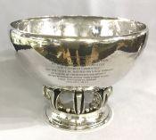 Georg Jensen sterling silver pedestal bowl, # 584C