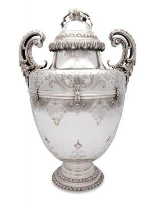 I.M.A. di Guerci & C Italian 800 FIne Silver Covered Urn