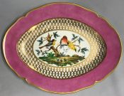 KPM Platter with Finches KPM Germany
