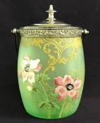 Legras Art Nouveau Mont Joye Art Glass Biscuit Barrel