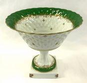 Limoges Porcelain Comport, Signed LEC, Leclair Porcelain France