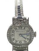 Marcus & Co Manual Wind Diamond Wristwatch