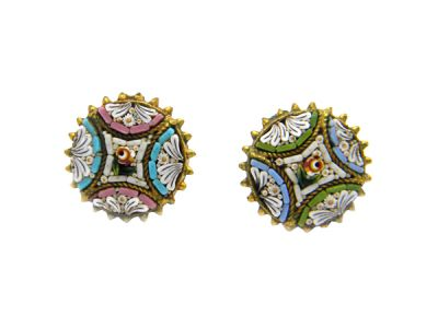 Micro Mosaic Earrings