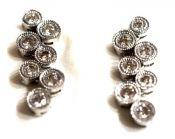 Modern Diamond Earrings