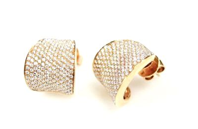 Modern Diamond Huggie Earrings
