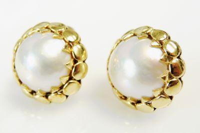 Modern Mabe Pearl Earrings