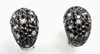 Modern Pave Diamond Earrings