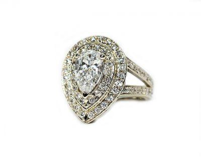 Modern Pear Diamond Ring