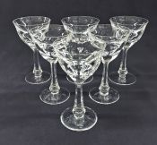 "Moser ""Lady Hamilton"" Crystal Claret Glasses"