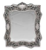 Art Nouveau Edwardian Era Sterling Silver Framed Mirror