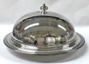 Pair of Silver Plate Meat Dishes & Domed Cover