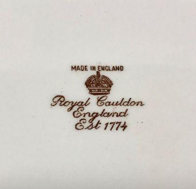 RoyalCauldonBrown Transferware Platter Of WildTurkeys