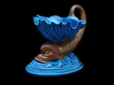 Royal Worcester Vase Dolphin Motif