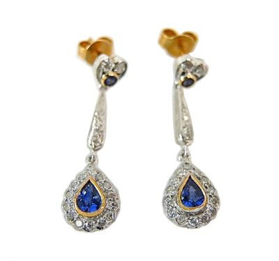 Stunning Sapphire Drop Earrings